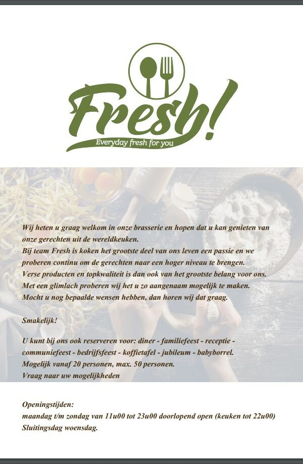 Fresh Menu 1