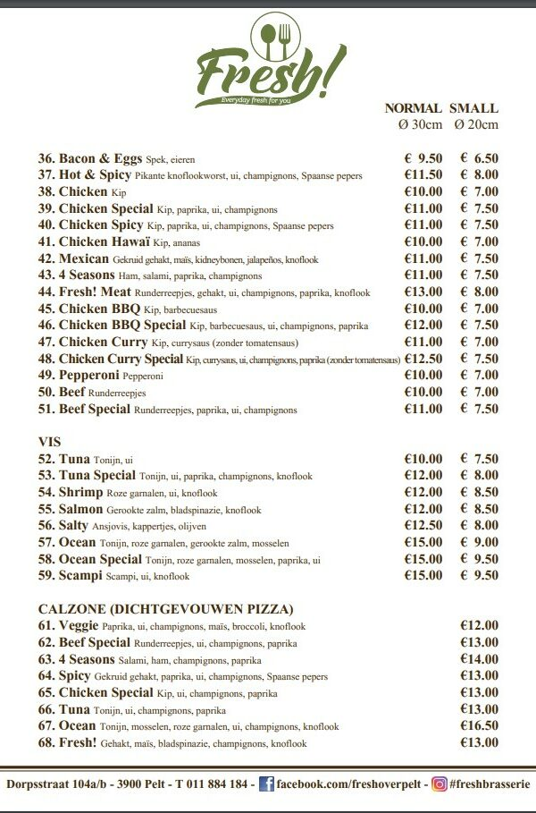 Pizza Menu 2